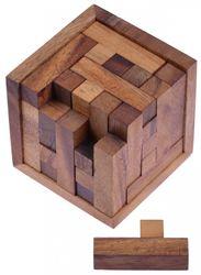 Packwürfel 125er Cube S - 3D Puzzle - Denkspiel - Knobelspiel - Geduldspiel - Logikspiel im Holzrahmen - 2. Wahl