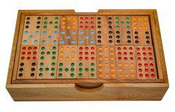Domino Doppel 9 - Legespiel - Gesellschaftsspiel aus Holz mit 56 Spielsteinen