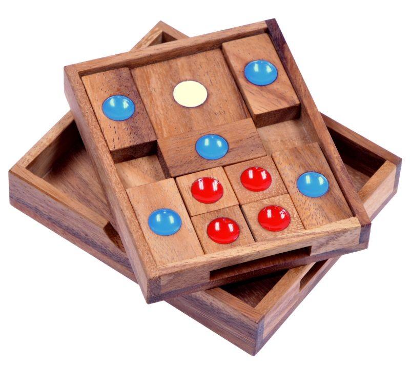 khun phan gr l schiebespiel denkspiel knobelspiel geduldspiel logikspiel aus holz. Black Bedroom Furniture Sets. Home Design Ideas