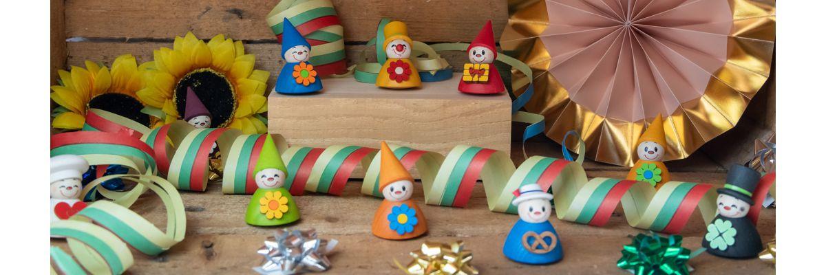 Wippelfiguren Miniaturen aus Holz 4 cm