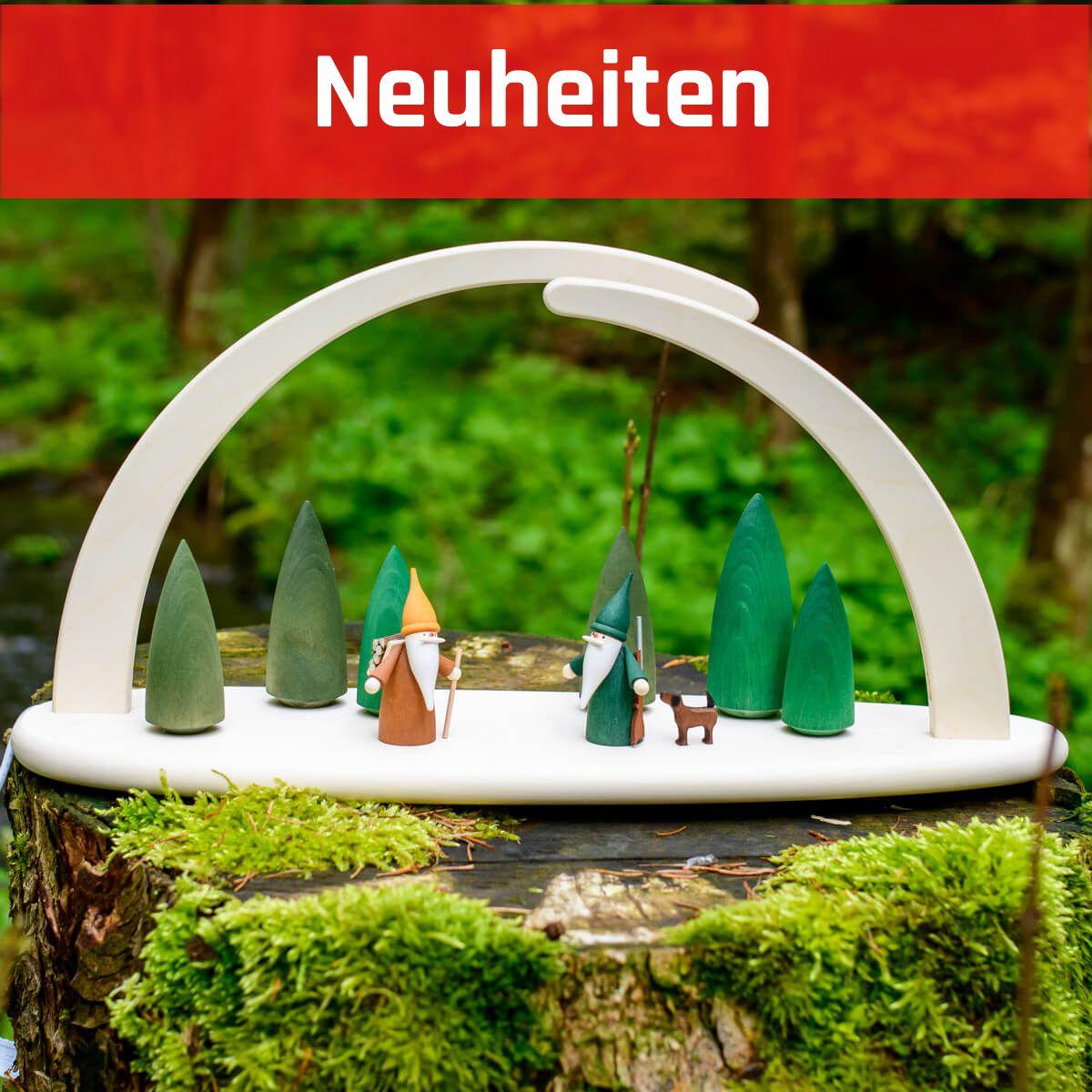 LED Lichterbogen aus Holz 21 cm mit USB inkl. Netzstecker Waldszene