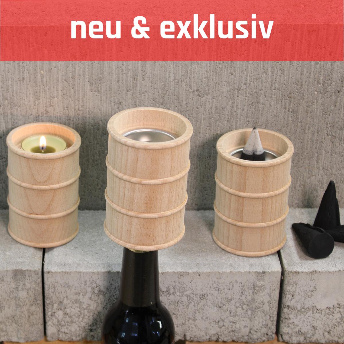 [Paket] Räuchertonne / Räucherofen für Teelicht & mit Flaschenöffner inkl. Räucherkerzen