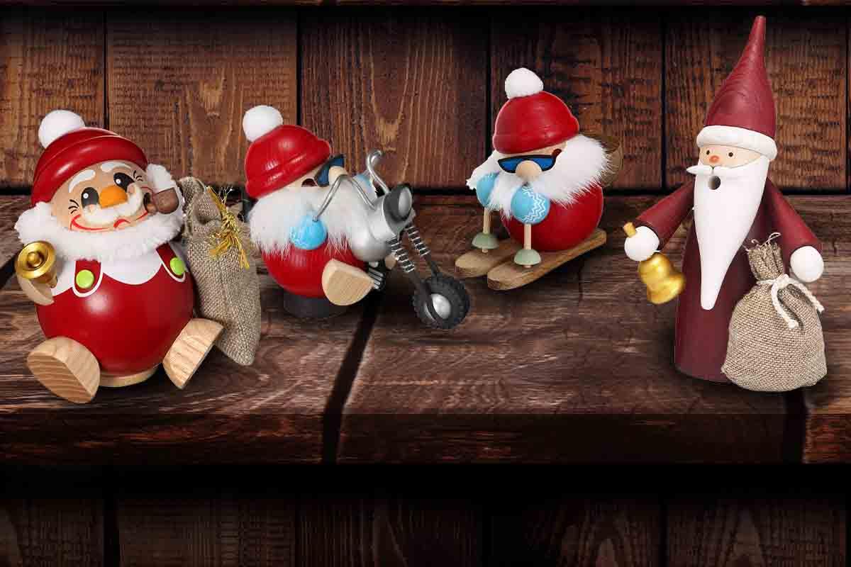 Weihnachtsmänner Räuchermännchen