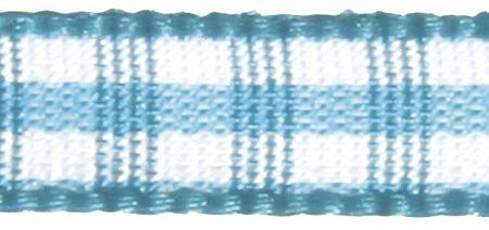 10m Karoband 6mm breit türkis