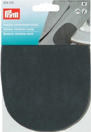 Prym 2 Patches Velourslederimitat (zum Aufbügeln) schwarz