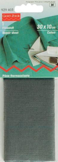 Prym Flickstoff CO (zum Aufbügeln) 30x10 cm grau