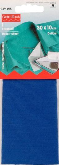 Prym Flickstoff CO (zum Aufbügeln) 30x10 cm mittelblau