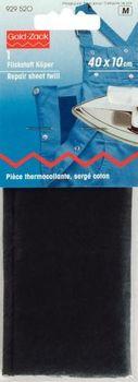 Prym Flickstoff Köper (zum Aufbügeln) 40x10 cm schwarz