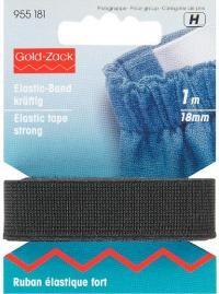 Prym 1m Elastic Band Gummiband kräftig 18 mm schwarz