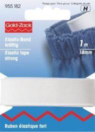 Prym 1m Elastic Band Gummiband kräftig 18 mm weiß