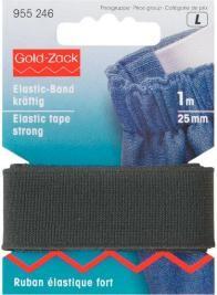 Prym 1m Elastic Band Gummiband kräftig 25 mm schwarz