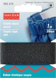Prym 1m Elastic Band Gummiband weich 25 mm schwarz