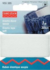 Prym 1m Elastic Band Gummiband weich 30 mm weiß