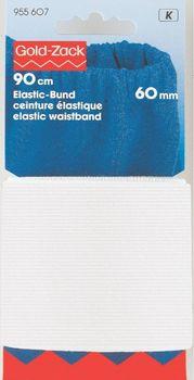 Prym 90cm Elastic Bund Gummiband 60 mm weiß