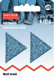 Applikation Dreiecke Jeans hell