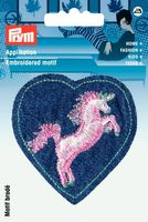 Applikation Patch Herz mit Einhorn 001