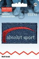 Applikation Jeanslabel absolut sport 001