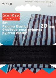 Prym 2m Pyjama Elastic Gummiband 20 mm schwarz