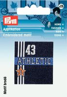 Applikation Label Athletic blau 001