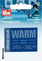 Applikation Label URBAN WEAR WARM blau 001