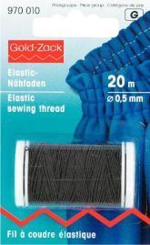Prym 20m Elastic Nähfaden 0,5 mm schwarz