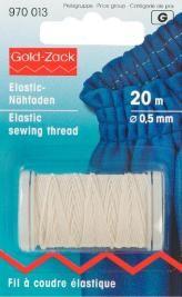 Prym 20m Elastic Nähfaden 0,5 mm rohweiß