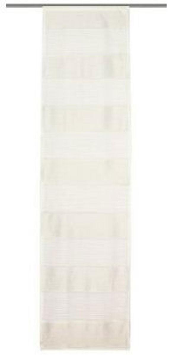 Schiebevorhang Flächenvorhang Flächenschal 60x245cm Querstreifen weiß