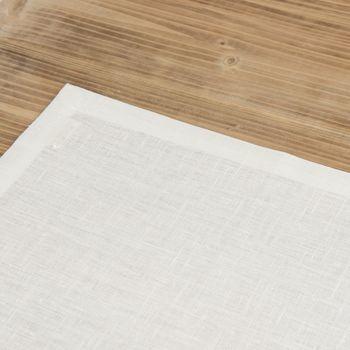 Leinen-Tischset Platzset Erik 1-lagig 37x50cm weiß – Bild 3