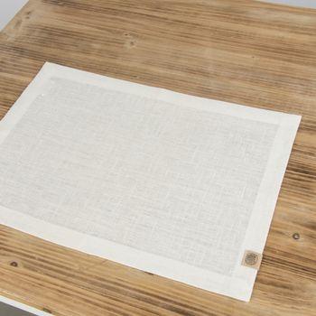 Leinen-Tischset Platzset Erik 1-lagig 37x50cm weiß – Bild 4