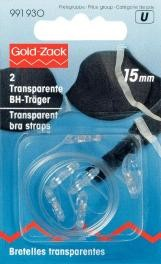 Prym 2Stück BH-Träger 15 mm transparent