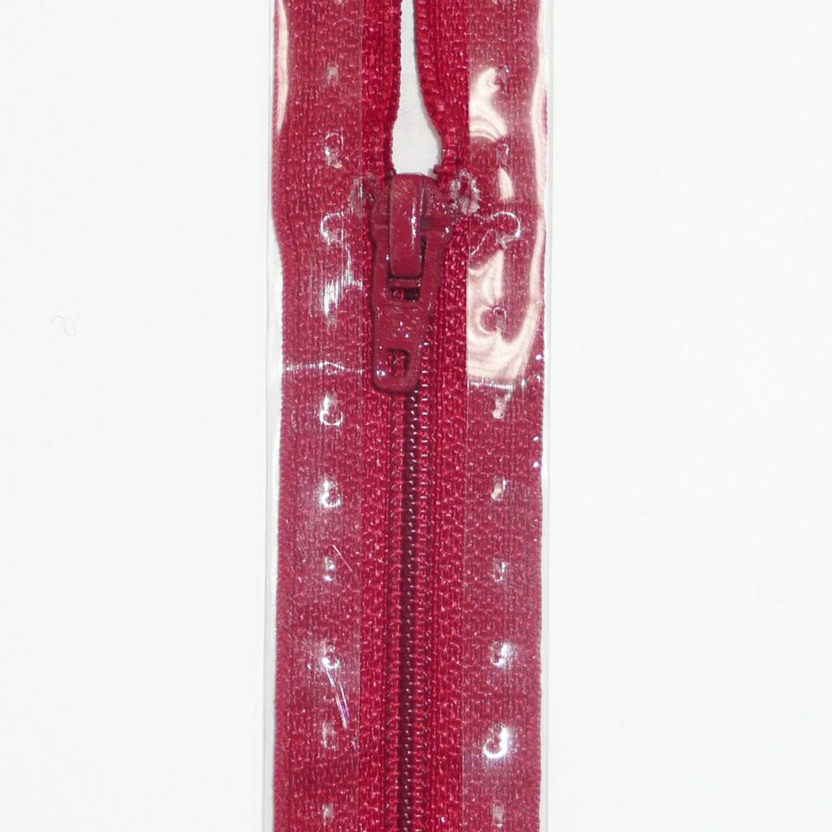 Reißverschluss S1 Typ 0 ut 15 cm Flach granatrot