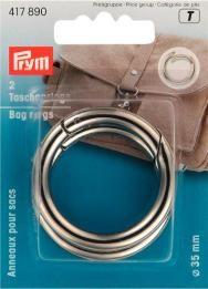 Taschenringe 35 mm silberfarbig