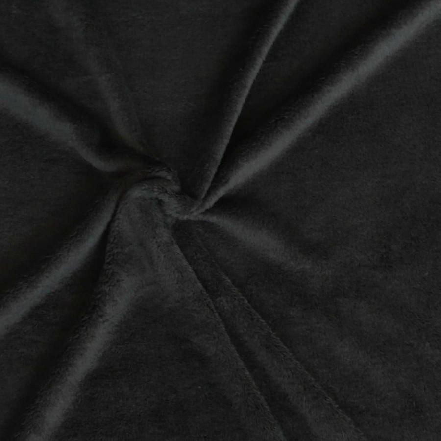 wellness fleece stoff meterware schwarz stoffe stoffe uni fleece. Black Bedroom Furniture Sets. Home Design Ideas