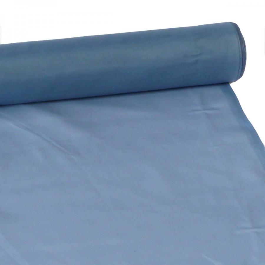 30m Voile Voilestore Gardinen Stoff blau