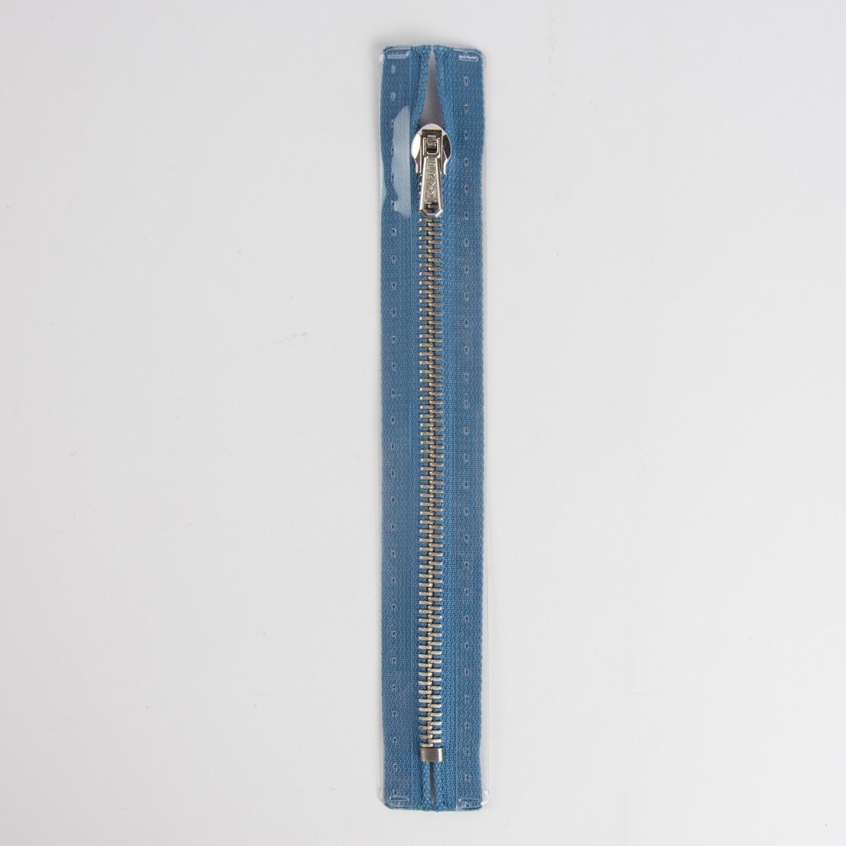 Reißverschluss M2 Typ 10 ut 20 cm si-fb Fla azurblau