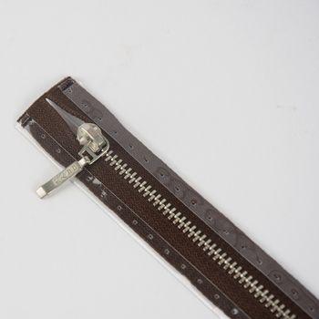 Reißverschluss M9 Typ 5 ut 16 cm si-fb FLA d-braun