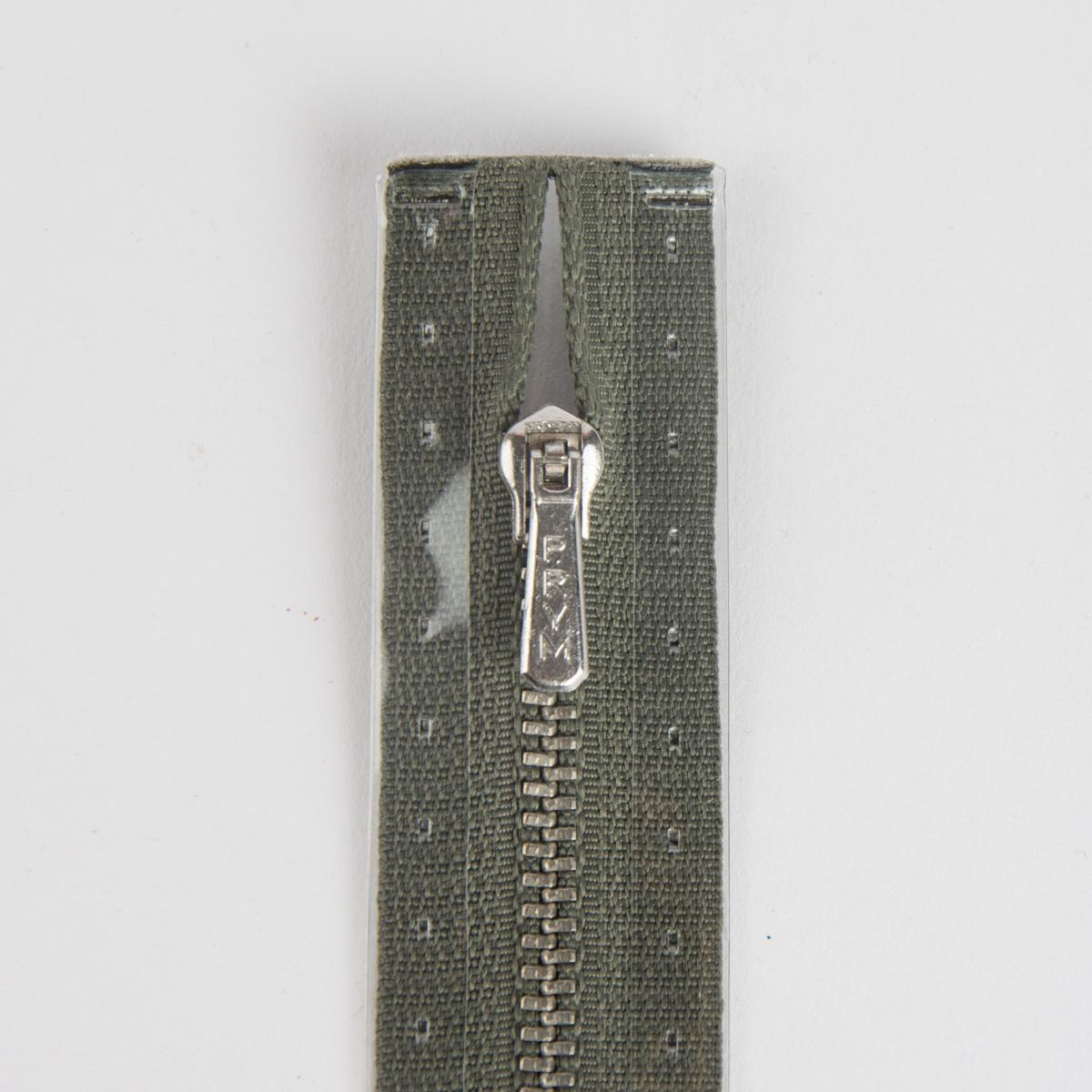 Reißverschluss M1 Typ 5 HReißverschluss 18 cm si-fb Fla d-grau