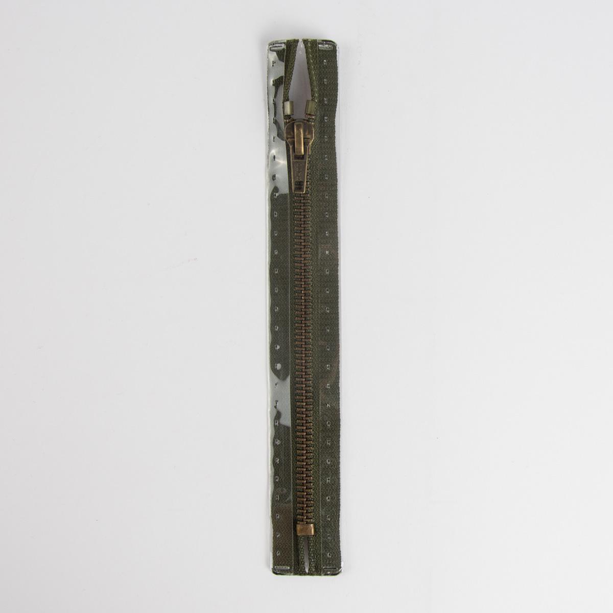 Reißverschluss M6 Typ 10 ut 14 cm am-fb Fla br-oliv