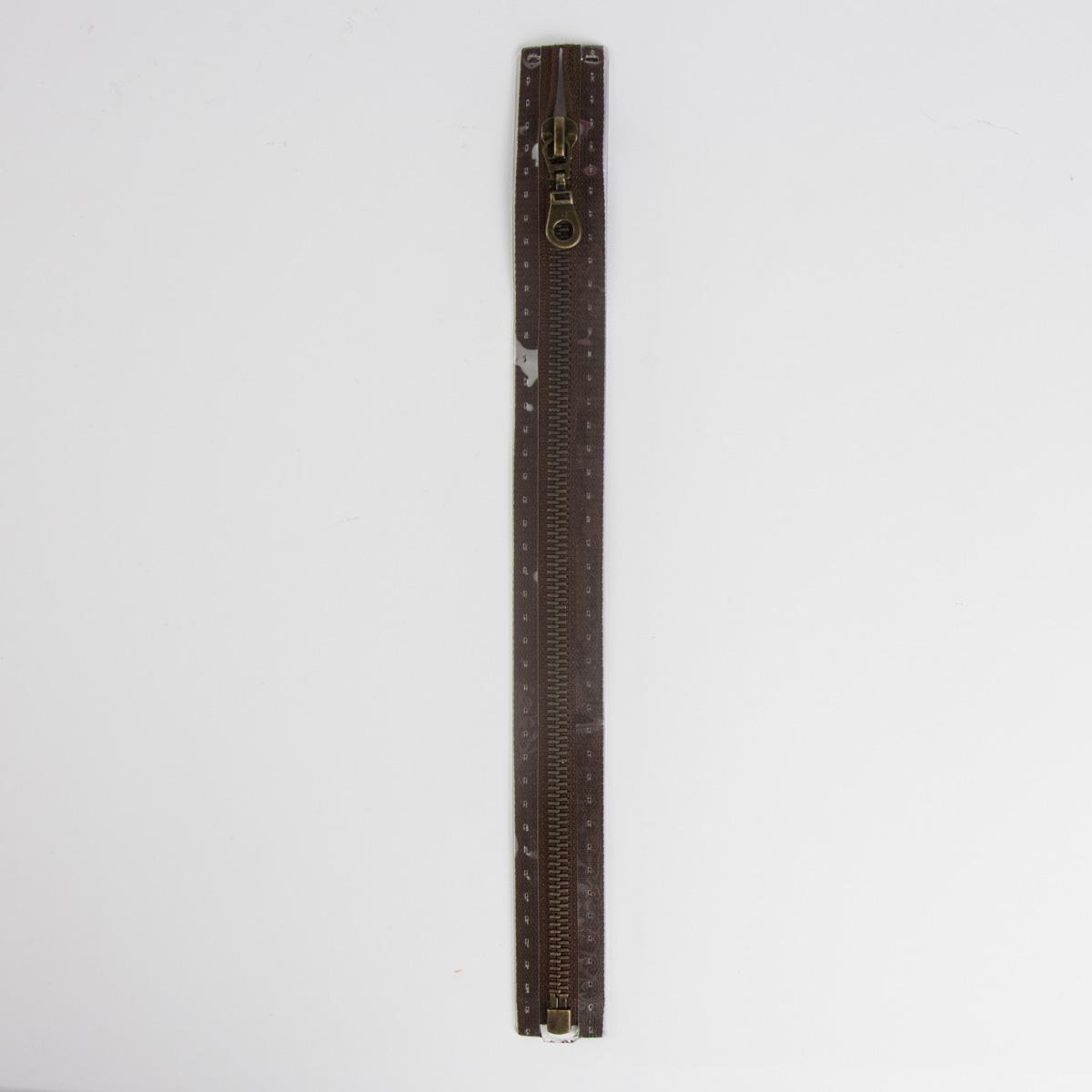 Reißverschluss M5 Typ 10 tb 40 cm am-fb Fla dunkelbr
