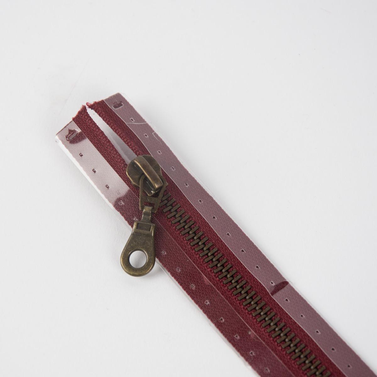 Reißverschluss M5 Typ 10 tb 50 cm am-fb Fla burgund