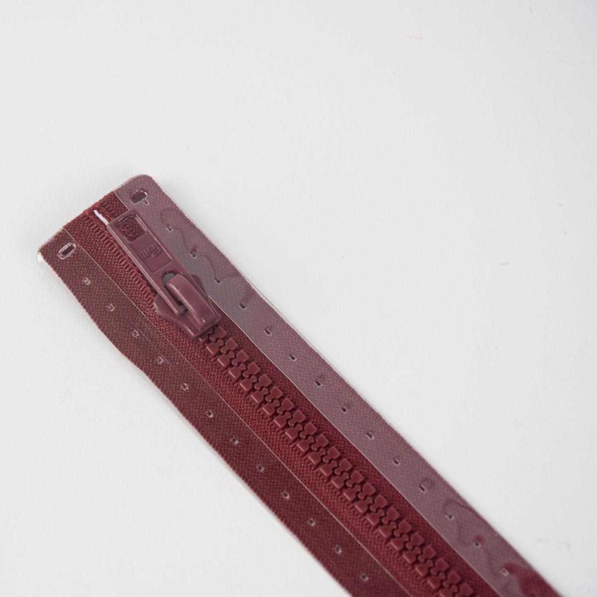 Reißverschluss S4 Profil tb 65 cm Fla burgund