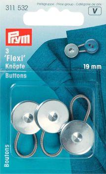 Flexi-Knöpfe mit Schlaufe 19 mm