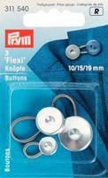 Flexi-Knöpfe mit Schlaufe je 1x10, 15 + 19 mm