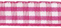 Rayher HobbyKunst Karoband 9,5mm breit, 10m lang pink-weiß kariert 001