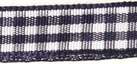 Rayher HobbyKunst Karoband 9,5mm breit, 10m lang dunkelblau-weiß kariert