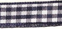 Rayher HobbyKunst Karoband 9,5mm breit, 10m lang dunkelblau-weiß kariert 001