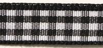 Rayher HobbyKunst Karoband 9,5mm breit, 10m lang schwarz-weiß kariert