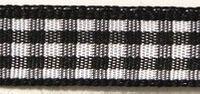 Rayher HobbyKunst Karoband 6,3mm breit, 10m lang schwarz-weiß kariert 001