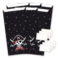 Geschenktüten Tüten Set Pirat 6 Stück 15x29cm 001