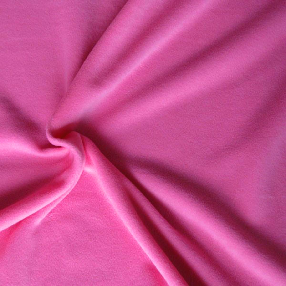 polar fleece stoffe fleece meterware antipilling pink stoffe stoffe uni fleece. Black Bedroom Furniture Sets. Home Design Ideas
